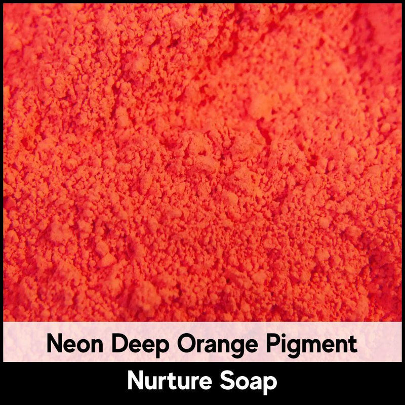 Fluorescent Neon Deep Orange