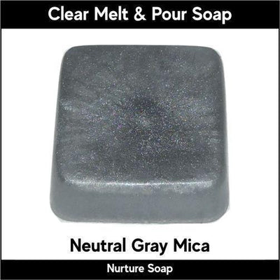 Neutral Gray Mica in MP Soap