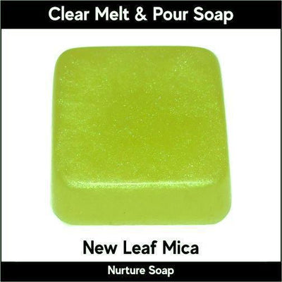 New Leaf Mica in MP Soap