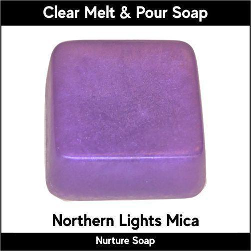 Northern Lights Mica in MP Soap