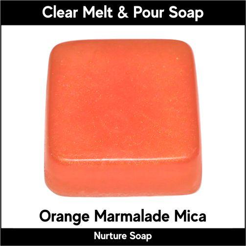 Orange Marmalade Mica in MP Soap