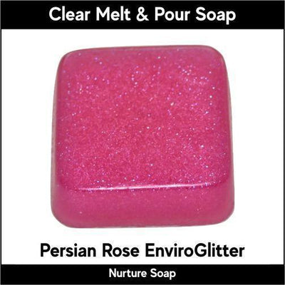 Persian Rose Eco-Friendy EnviroGlitter in MP Soap