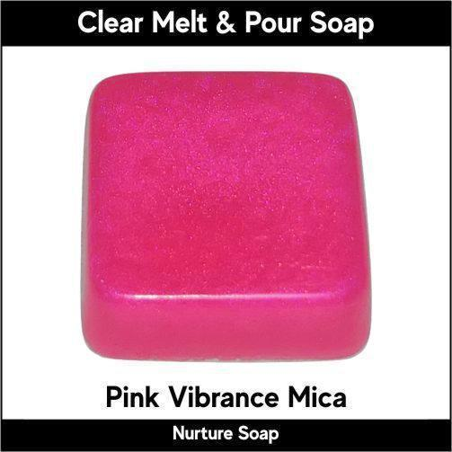 Pink Vibrance Mica in MP Soap