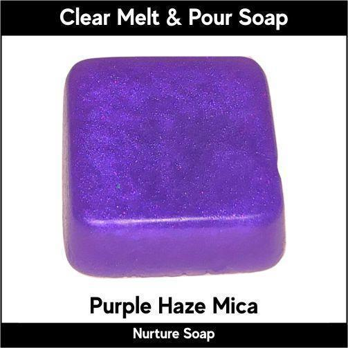 Purple Haze Mica in MP Soap