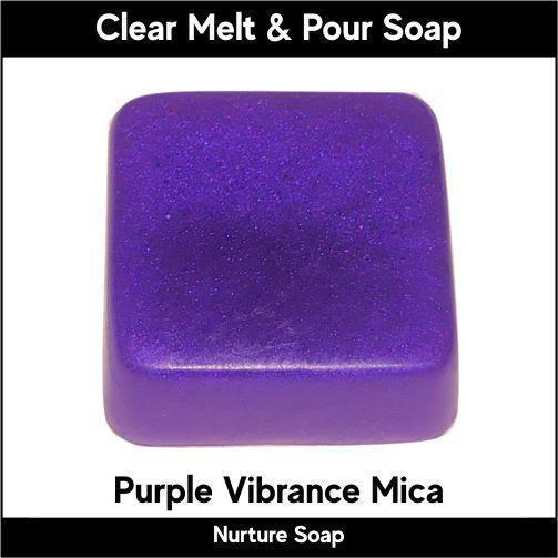 Purple Vibrance Mica in MP Soap