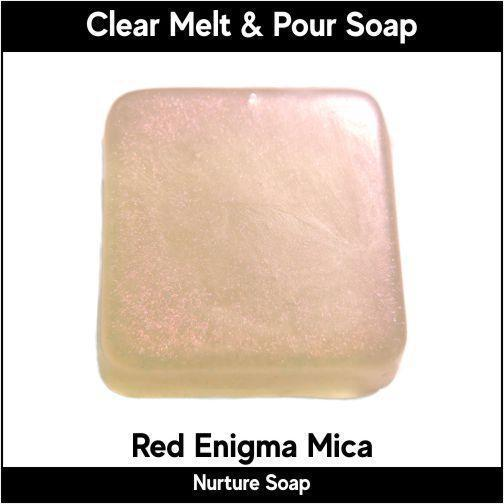 Red Enigma Mica in MP Soap
