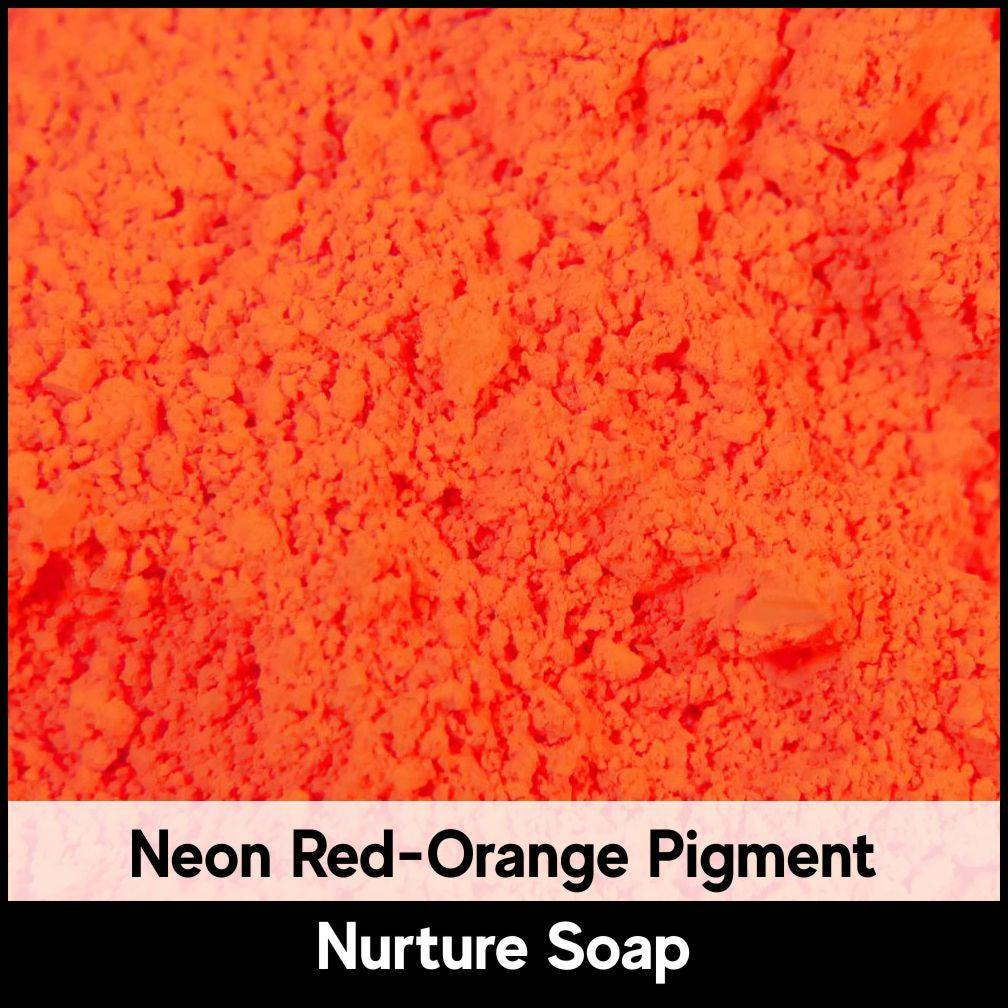 Fluorescent Neon Red-Orange