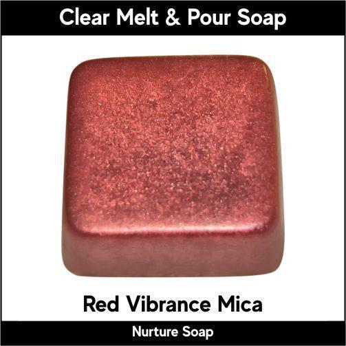 Red Vibrance Mica in MP Soap