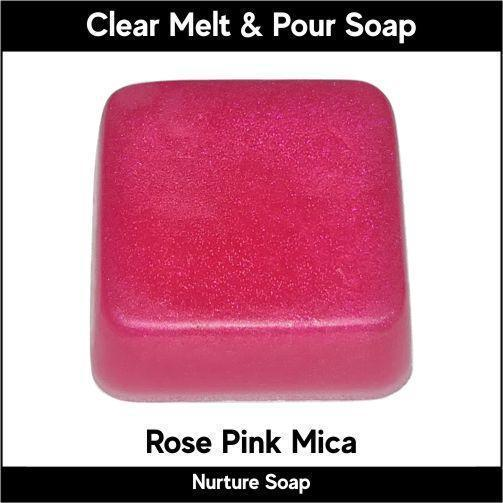 Rose Pink Mica in MP Soap