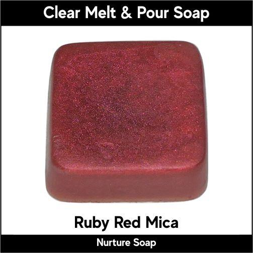 Ruby Red Mica in MP Soap