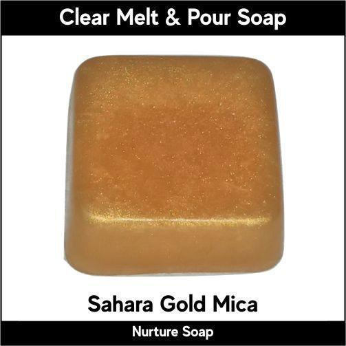 Sahara Gold Mica in MP Soap