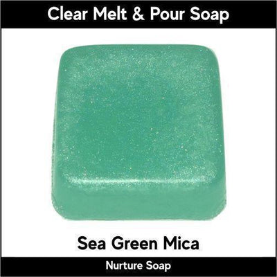 Sea Green Mica in MP Soap