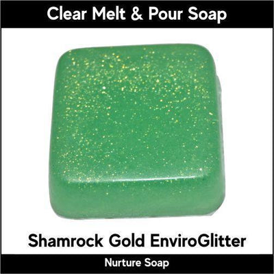 Shamrock Gold Eco-Friendy EnviroGlitter in MP Soap