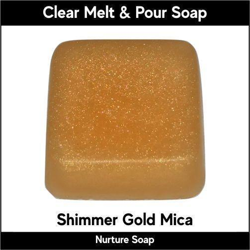 Shimmer Gold Mica in MP Soap