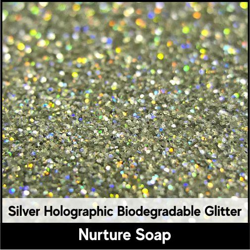 Silver Holographic Biodegradable Glitter