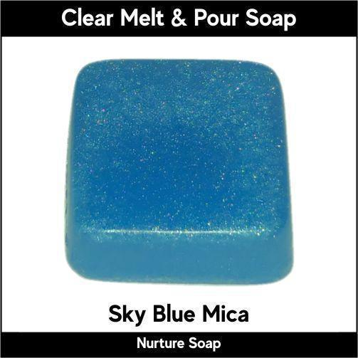 Sky Blue Mica in MP Soap