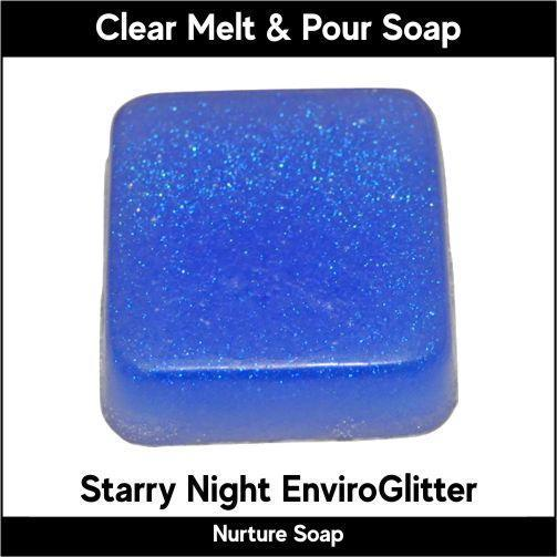 Starry Night Eco-Friendy EnviroGlitter in MP Soap