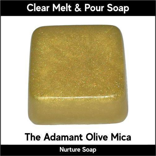 The Adamant Olive Mica in MP Soap