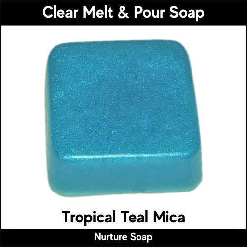 Tropical Teal Mica in MP Soap