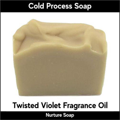Twisted Violet in cold process-Nurture Soap