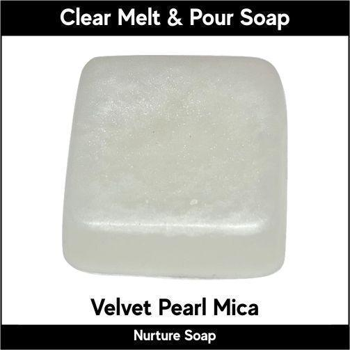 Velvet Pearl Mica in MP Soap