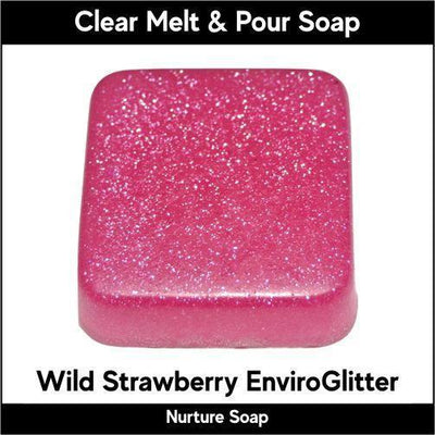 Wild Strawberry Eco-Friendy EnviroGlitter in MP Soap