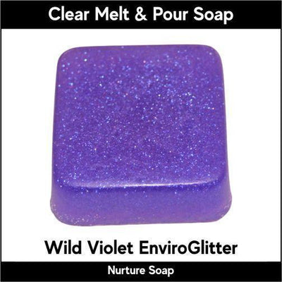 Wild Violet Eco-Friendy EnviroGlitter in MP Soap