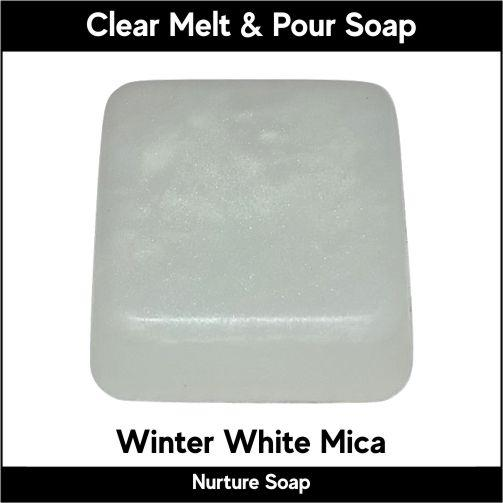 Winter White Mica in MP Soap