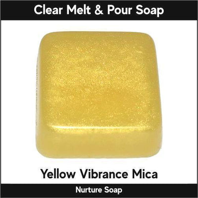 Yellow Vibrance Mica in MP Soap