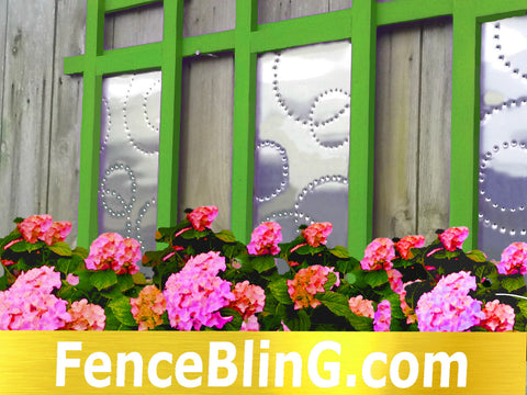 Outdoor Wall Art Geometric Fence Bling In Green