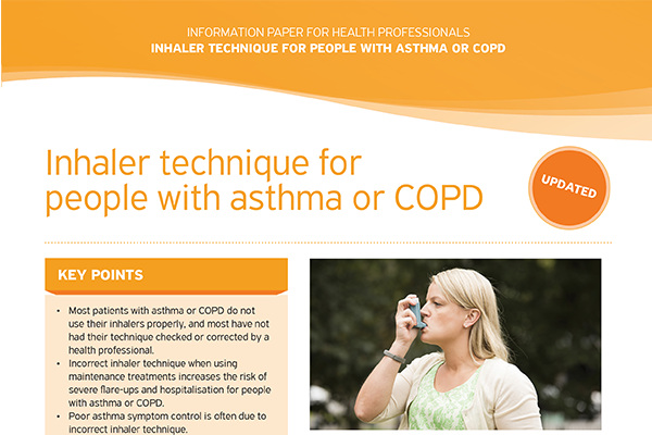 Inhaler Technique in Adults with Asthma or COPD information paper
