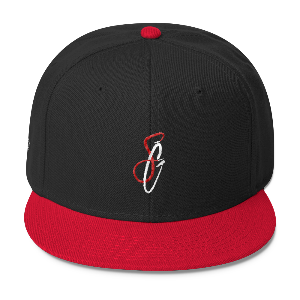 SGC SG Wool Blend Snapback (Black/White/Red)