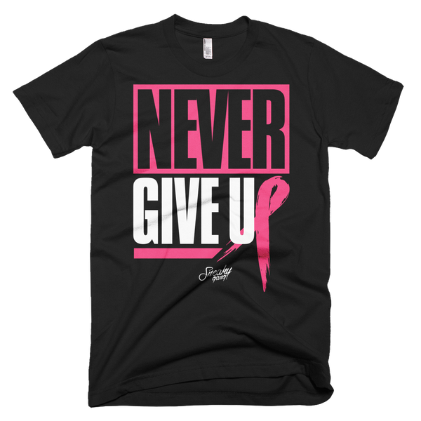 """Never Give Up"" Unisex Tee (Black)"
