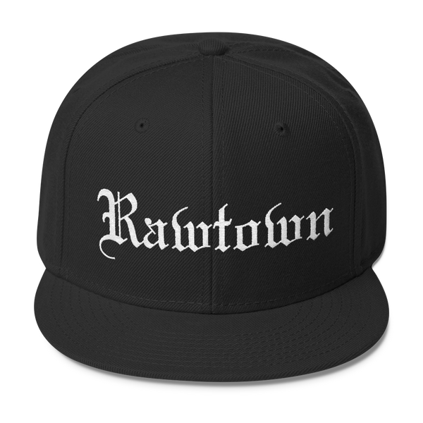 "SGC ""Rawtown"" Wool Blend Snapback (Black/White)"