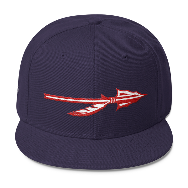 "SGC ""Spear"" Wool Blend Snapback (Navy/Red/White)"