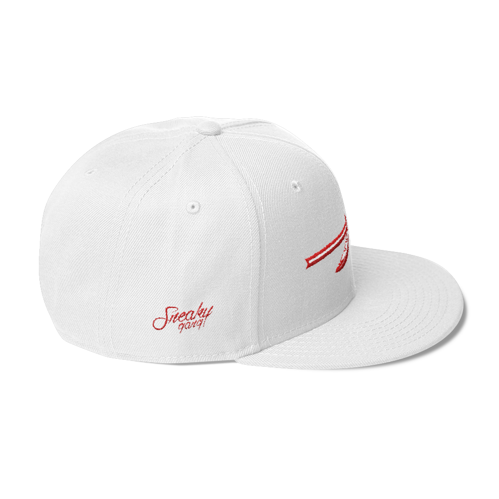 "SGC ""Spear"" Wool Blend Snapback (White/Red)"