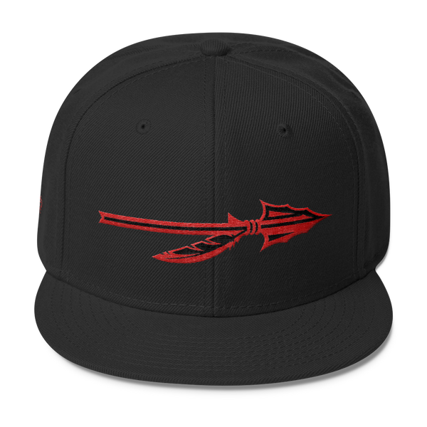 "SGC ""Spear"" Wool Blend Snapback (Black/Red)"