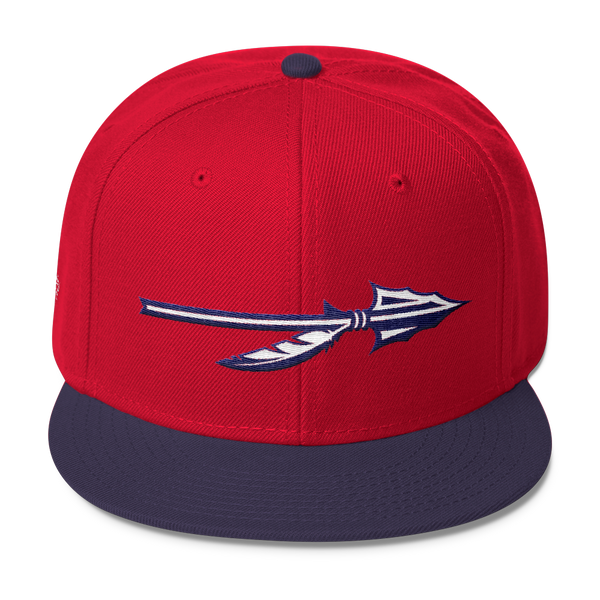 "SGC ""Spear"" Wool Blend Snapback (Red/Navy/White)"