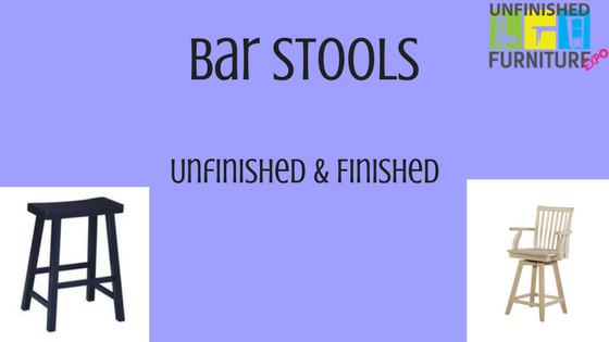 Bar Stools: Unfinished and Finished