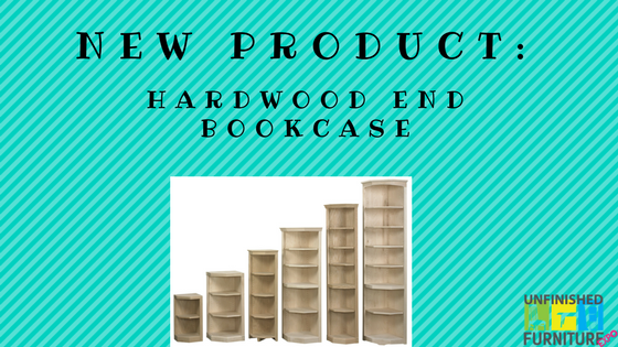 New Product: Hardwood End Bookcase