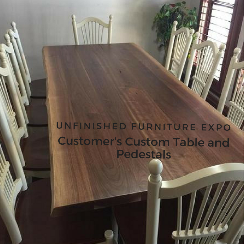 A Customer's Custom Table Pedestals
