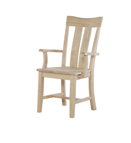 Unfinished Furniture Expo Ava Hardwood Arm Chair