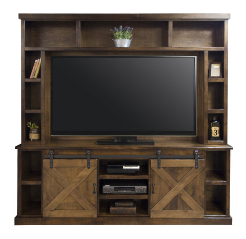 "Unfinished Furniture Expo Farmhouse 116"" Entertainment Wall"