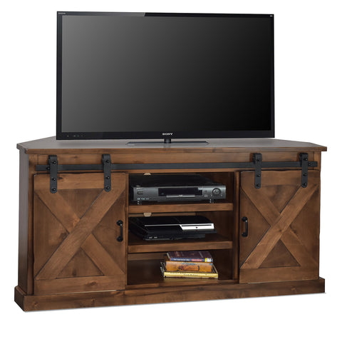 "Unfinished Furniture Expo Farmhouse 66"" Corner TV Console"