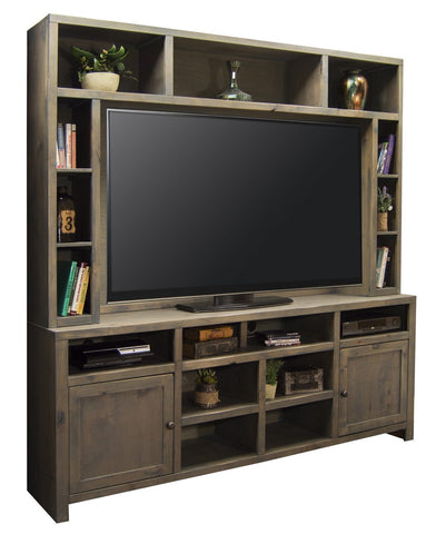 Unfinished Furniture Expo Barnwood Entertainment Wall