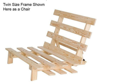 Unfinished Furniture Expo Ultralight Twin Futon Frame