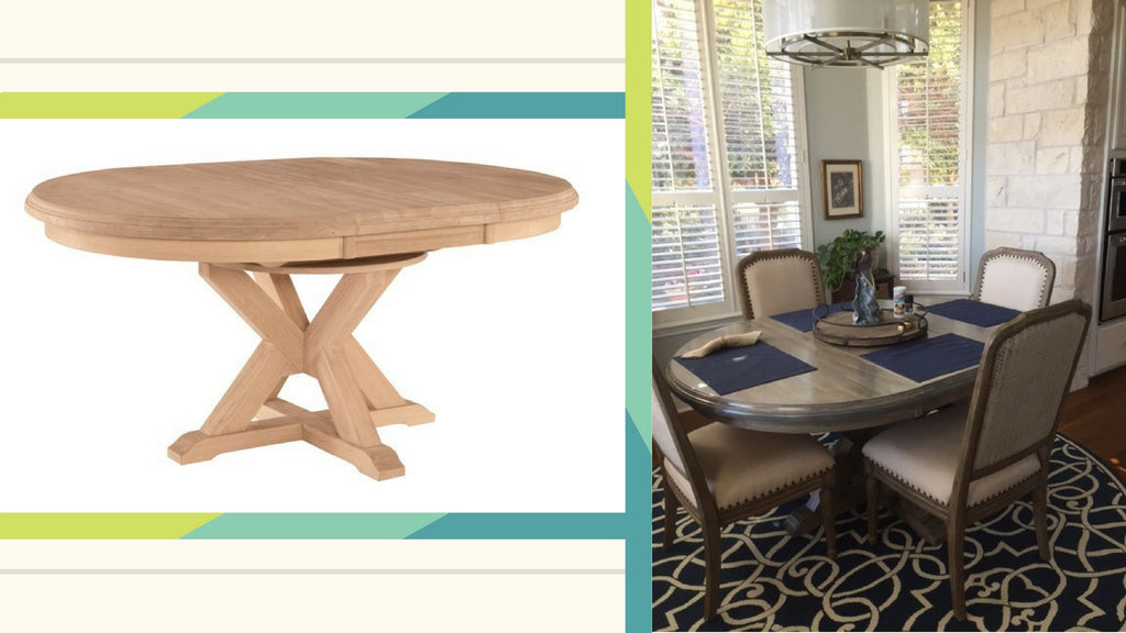 ginger wood designs, canyon table, unfinished furniture, unfinished furniture expo, diy furniture, diy furniture project