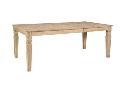 Unfinished Furniture Expo Java Hardwood Dining Table