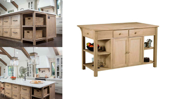 Unfinished Furniture Expo Fixer Upper Kitchen Island Hack