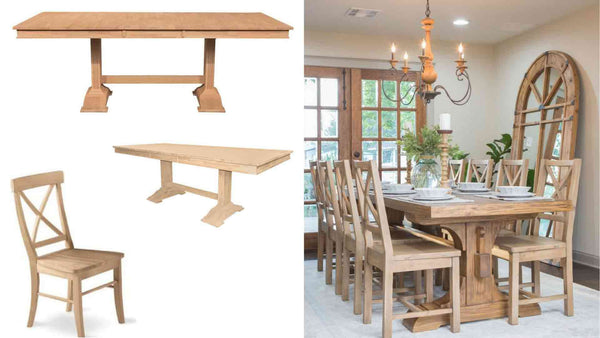 unfinished furniture expo fixer upper hack dining room